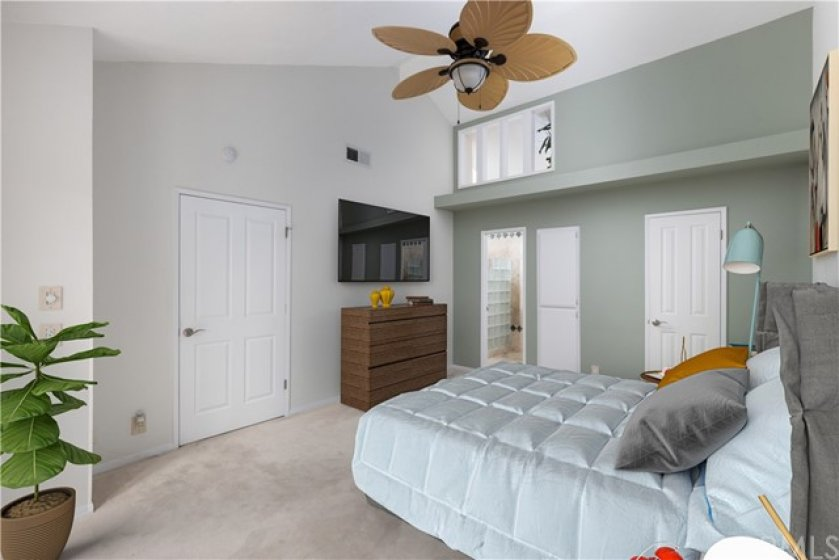 Virtually staged Master Bedroom Suite