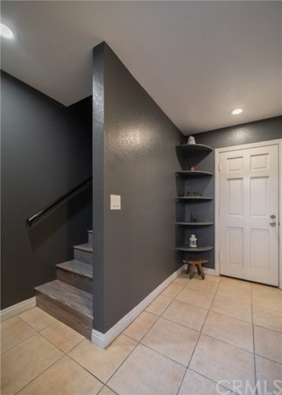 Direct access from garage into the home.