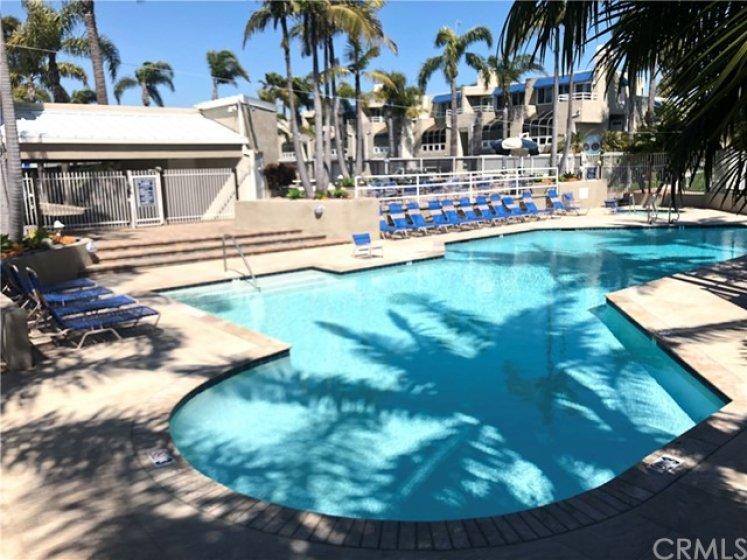 resort like pool area