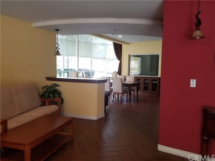 Community Recreation room with Mah Jong tables, private party and entertainment room with large TV screens.