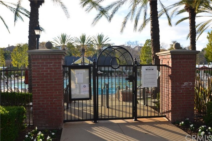 Entry to the large Clubhouse Pool.  Many a happy day spent here.