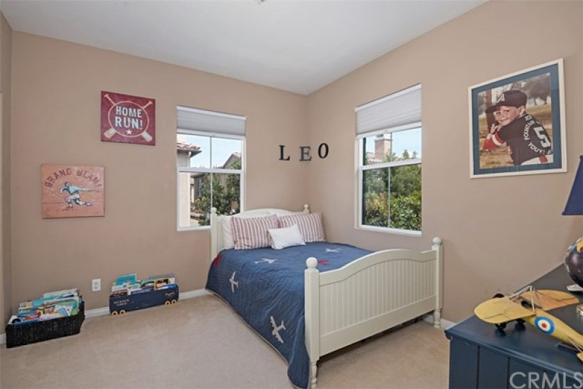 Bedroom 3 has good wall space for furniture arranging