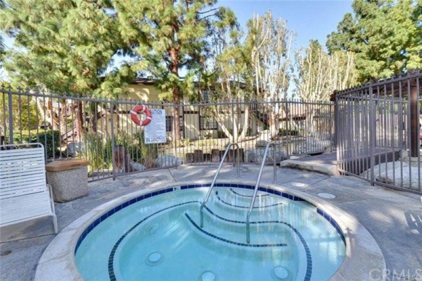 Spa at large pool