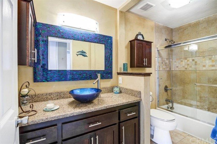 Upgraded bathroom w/ tub and shower