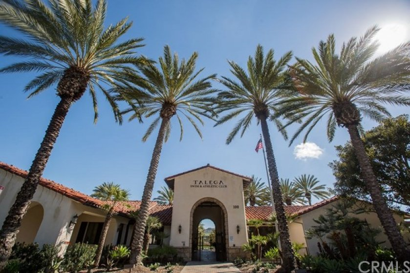 The Talega swim and athletic club offers many highly sought after amenities including a large pool, spa, tennis, playground and volleyball court.