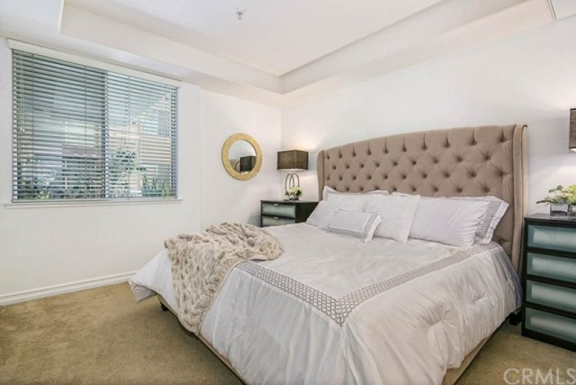 Beautiful master bedroom features wonderful trey ceilings, large window, spacious walk-in closet, and has its own oversized bath with double sinks, walk-in shower, and separate soaking tub.
