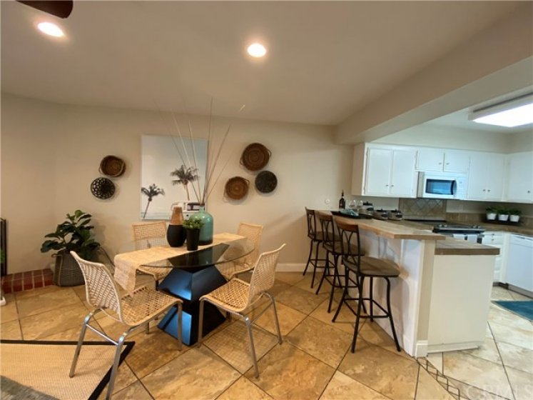 Dining Area and breakfast bar.