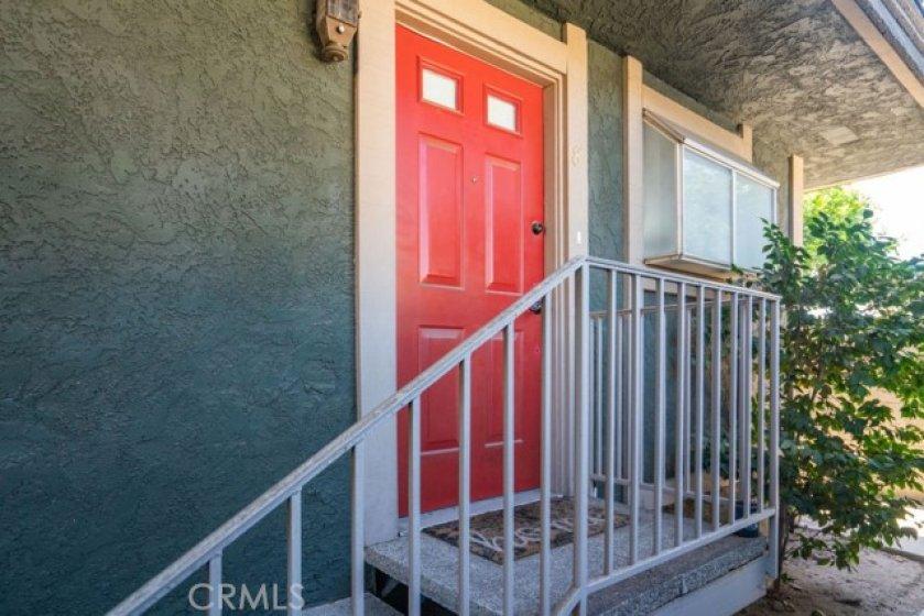 Vibrant front door