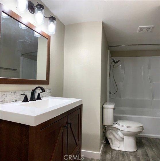 Hallway bathroom (view from the door)