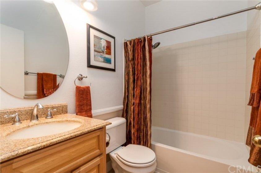 Hall Bath with tub/shower combo