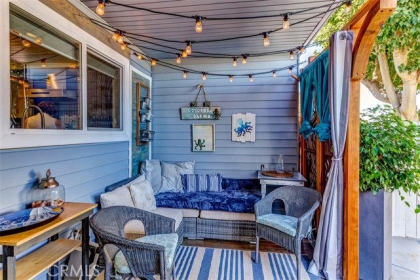 Cozy back porch