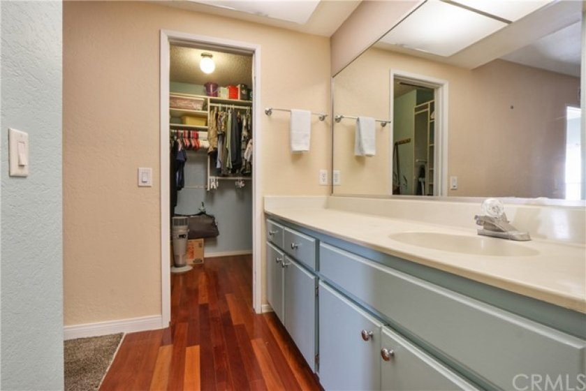 A walk-in closet for this bedroom as well!