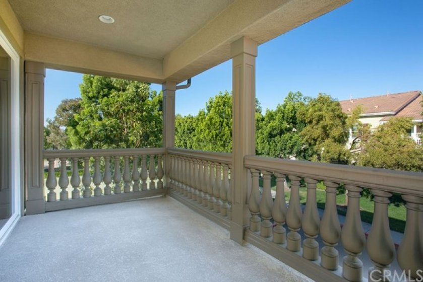 Your covered balcony for enjoying Southern California weather.