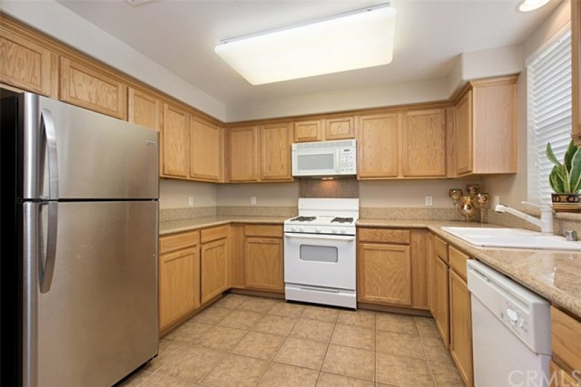 Large kitchen with lots of counter space and storage