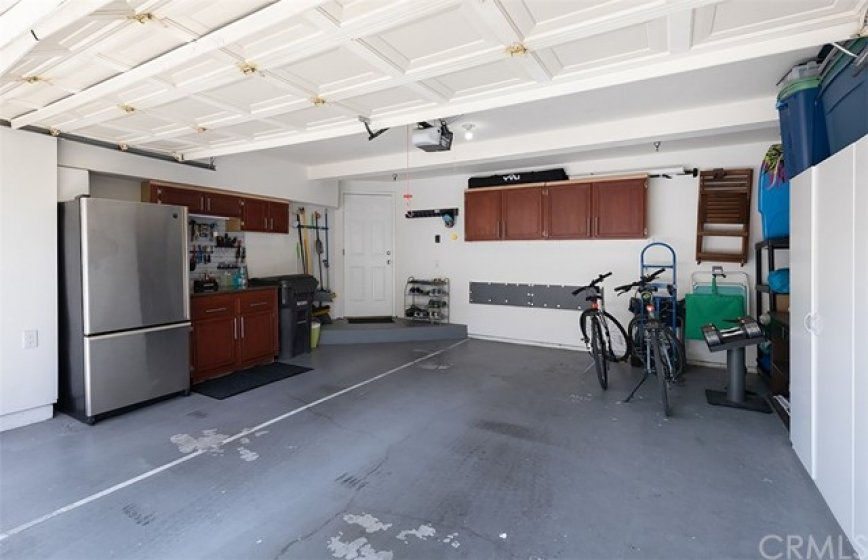 2-car direct-access garage finished with epoxy flooring