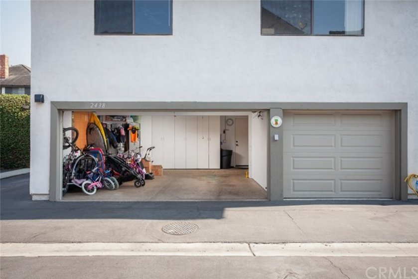 Rarely availalbe three-car garage with direct access into the townhome!  Features include floor-to-ceiling storage cabinets, overhead storage rafter, and epoxy floors. There are also washer/dryer hookups in the 3rd-car garage, (in addition to the W/D hookups inside the home located upstairs in the loft area).