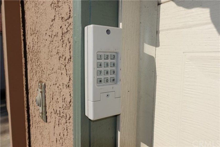 Keypad entry along with two remote controls.