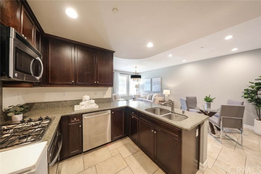 This spacious kitchen allows you to prepare food stress-free while talking with family and guests.