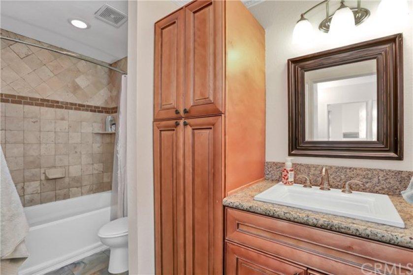 Upgraded secondary bathroom.