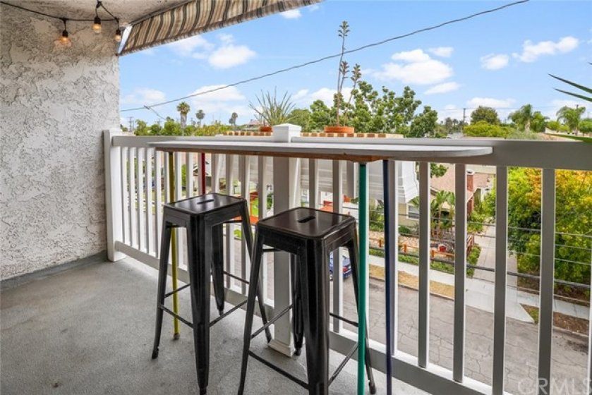 The balcony off the living room -- the place to start you day with a cup of coffee