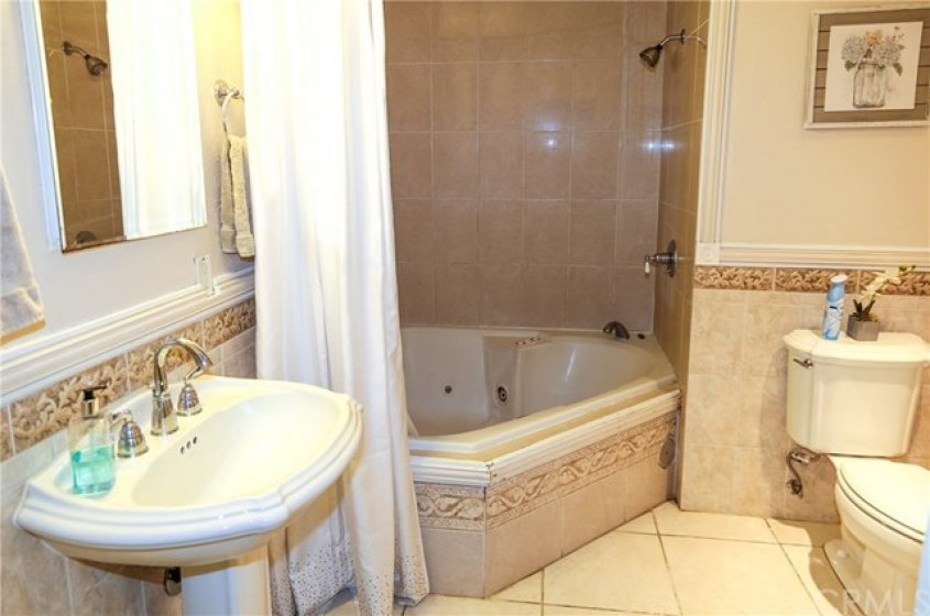 Very spacious Master Bath with relaxing jetted tub