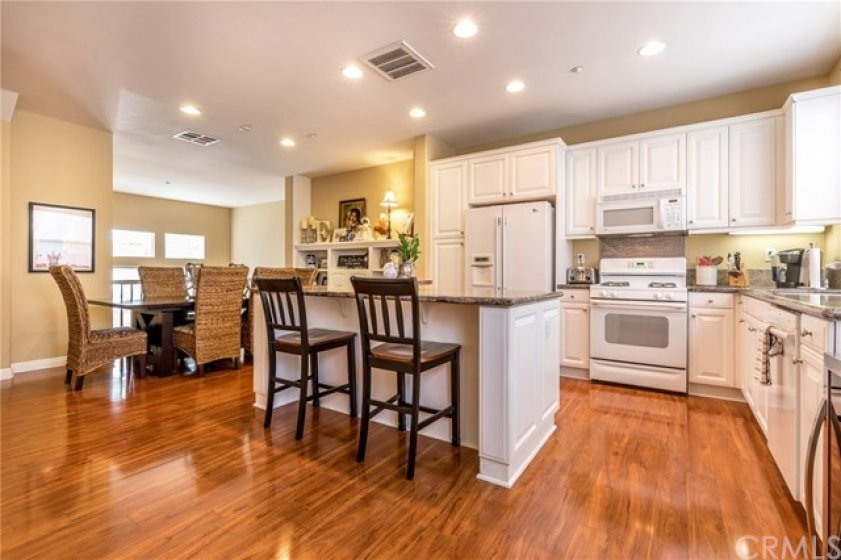 Great room with kitchen, dining and family room