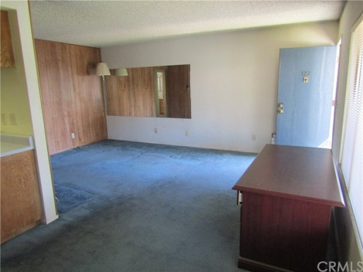 View of living room from the dining room