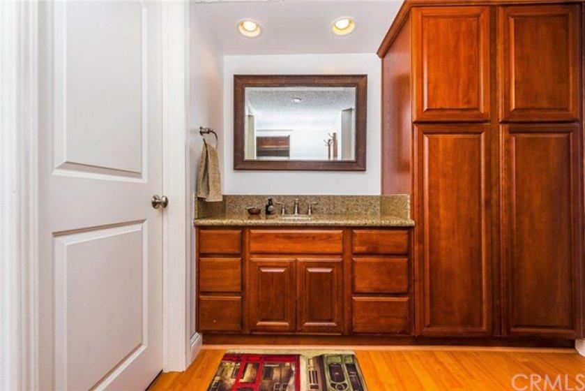 Closer view - bathroom door to the lelft