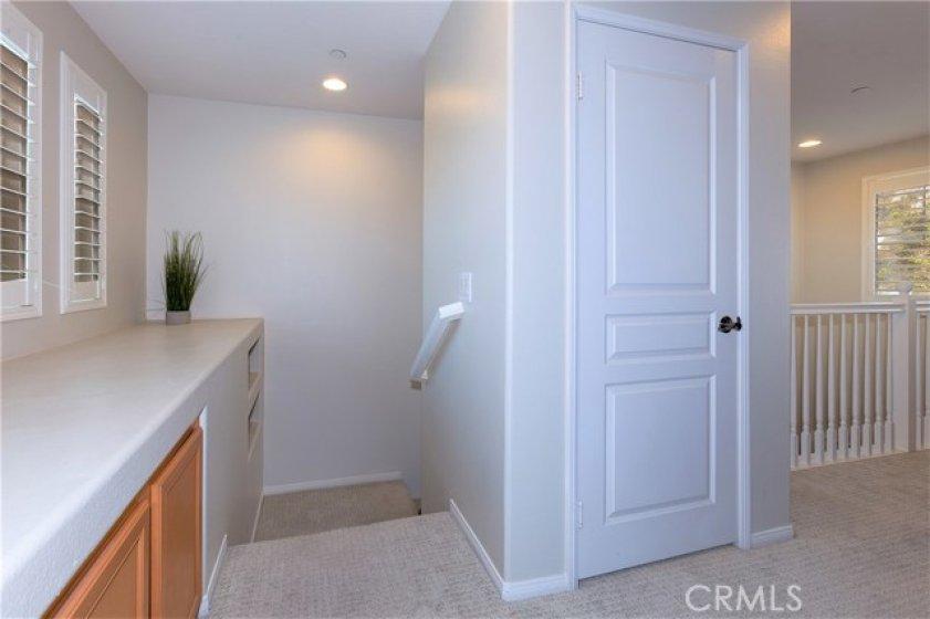 Hallway with great storage!