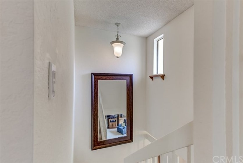Lots of natural light in the staircase