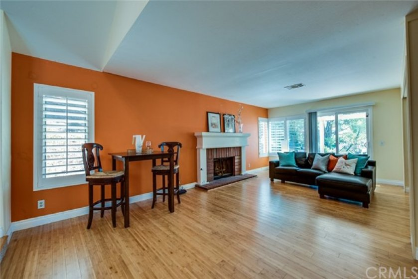 """The original floor plan shows this as the living room and what we've called the living room is the """"library."""" With 2 spacious rooms, it's up to you!"""