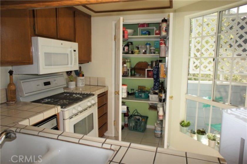 Large pantry.