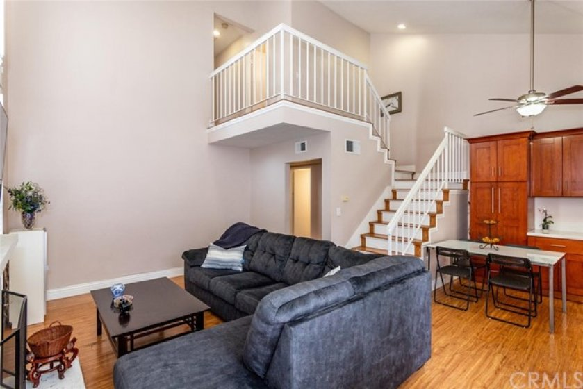 Open concept floor plan with amazing cathedral ceilings.