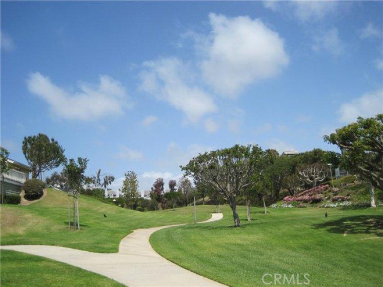 Park-like greenbelt