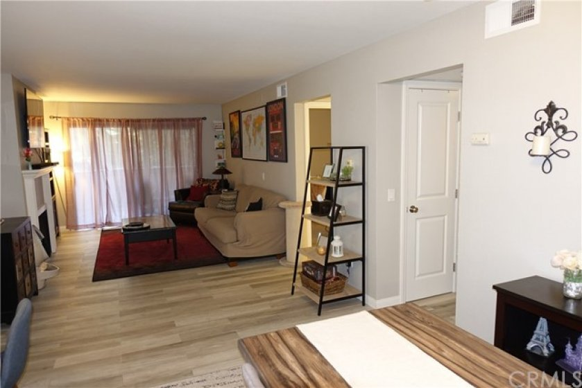 2nd bedroom and hallway to master, just off living room & dining room.