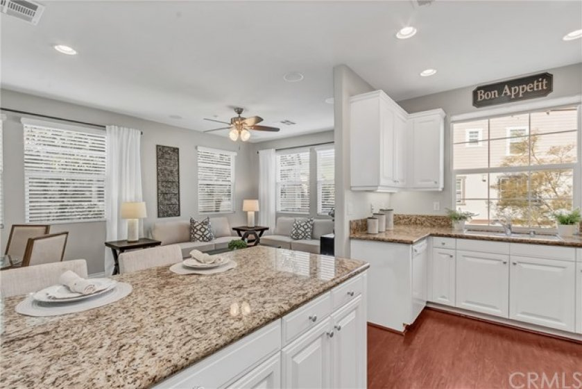 Kitchen facing Family Room