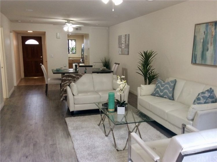 Larger living and dining area