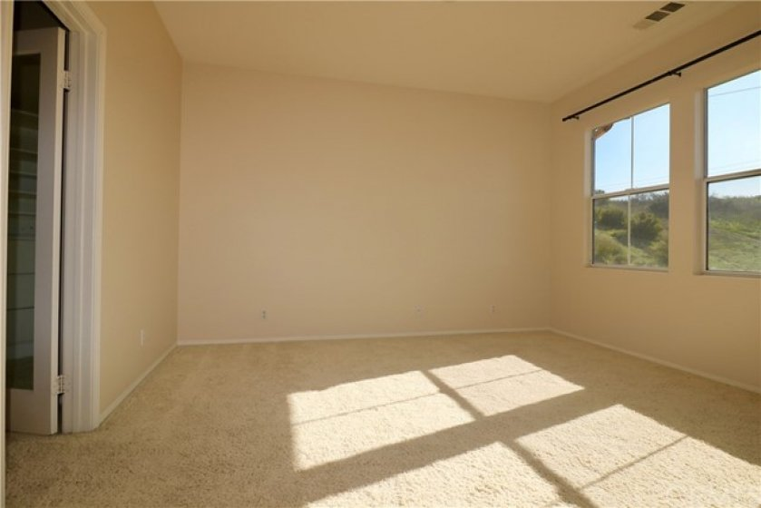 Spacious Master Suite with Walk-in Closet and Hills View