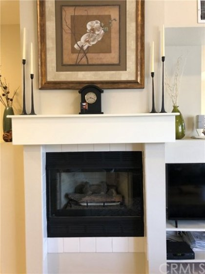 Cozy Gas Fireplace with Easy Electric Starter.