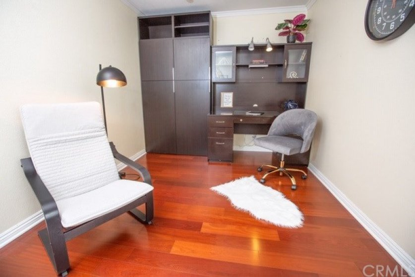 2nd bedroom or office with builtins