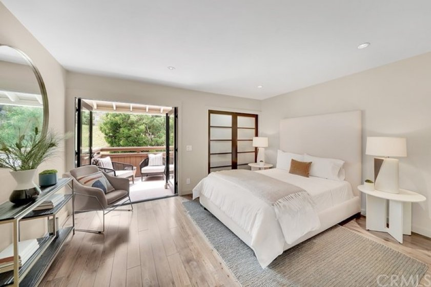 Guest bedroom with a third private deck