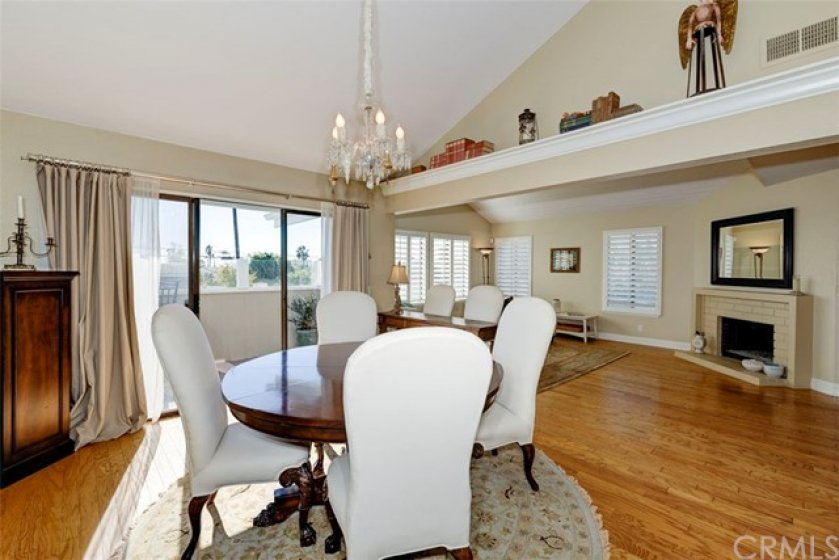 Balcony Deck off the Dining room with sliding glass doors. Open to Kitchen and Living Room!