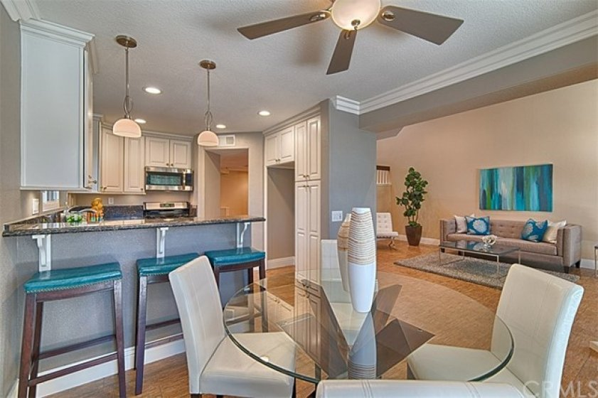 Counter bar seating in the kitchen and formal dining room too!
