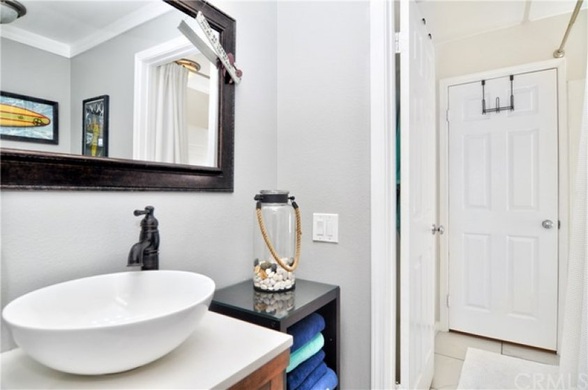 Private sink and toilet in second bathroom