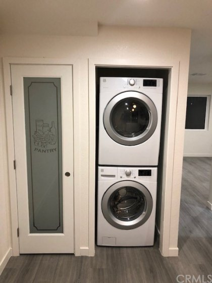 PANTRY, WASHER & DRYER