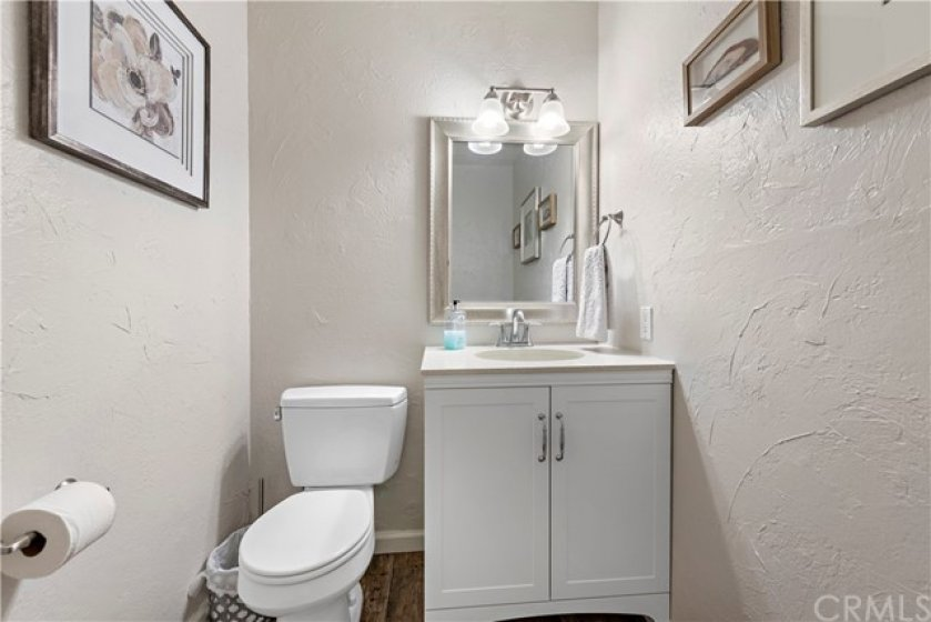 Upgraded downstairs powder room.