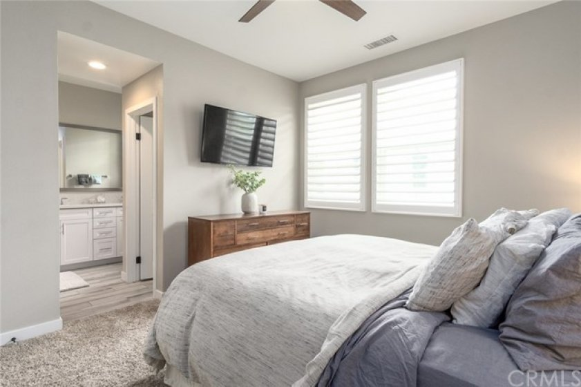 Master suite! features many upgraded finishes.