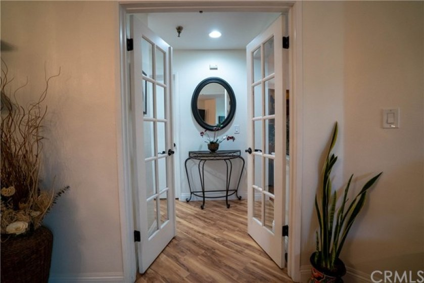 French Doors leading into the Master Bedroom