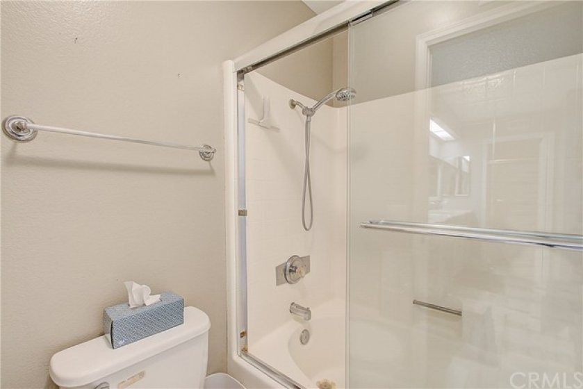Glass enclosed master shower
