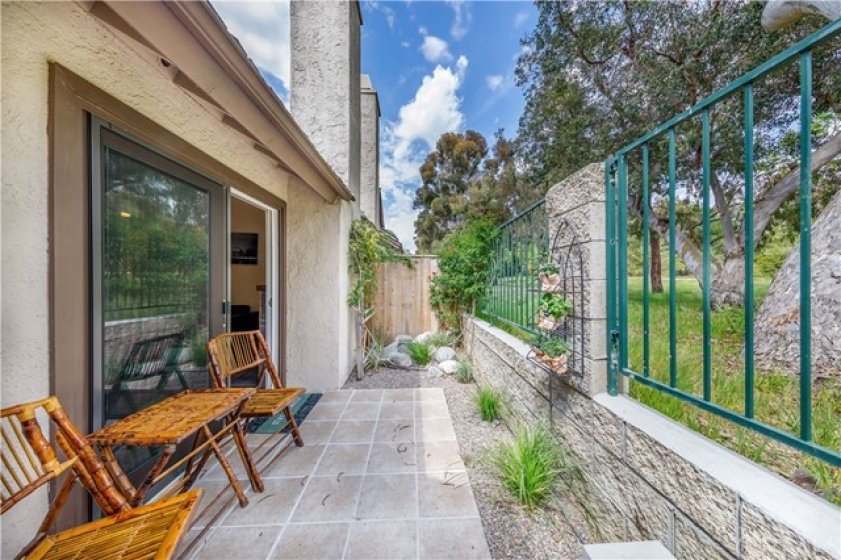 Enjoy Your Patio, Looking Out to the Park.  It is Beautiful!